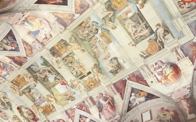 大塚国際美術館 ミケランジェロ システィーナ礼拝堂 壁画 天井画