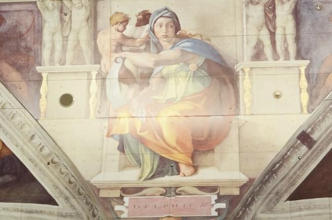 大塚国際美術館 ミケランジェロ システィーナ礼拝堂 デルフォイの巫女 部分展示