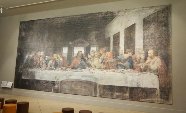大塚国際美術館 レオナルド・ダ・ヴィンチ 名作 最後の晩餐 修復前