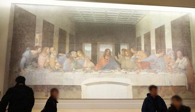 大塚国際美術館 レオナルド・ダ・ヴィンチ 最後の晩餐 修復後