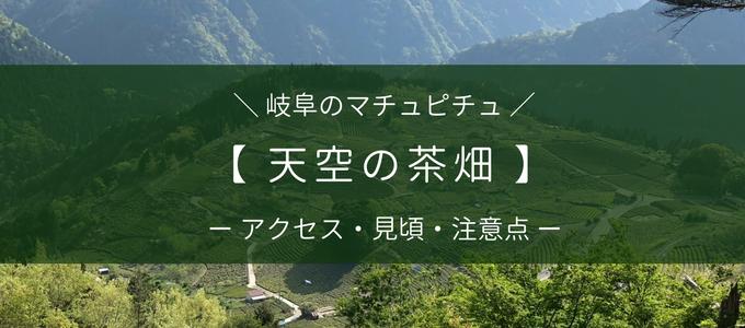 岐阜のマチュピチュ 天空の茶畑へのアクセス方法・見頃・注意点について