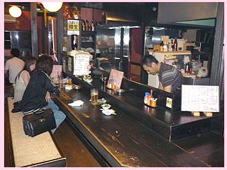 下呂市の居酒屋「祭ばやし」の店内の様子