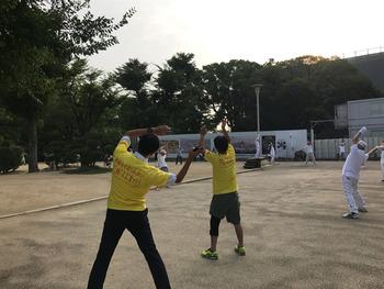 20170801大阪城ラジオ体操01