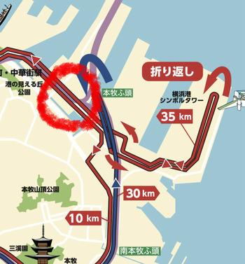 2018横浜マラソン応援ポイント