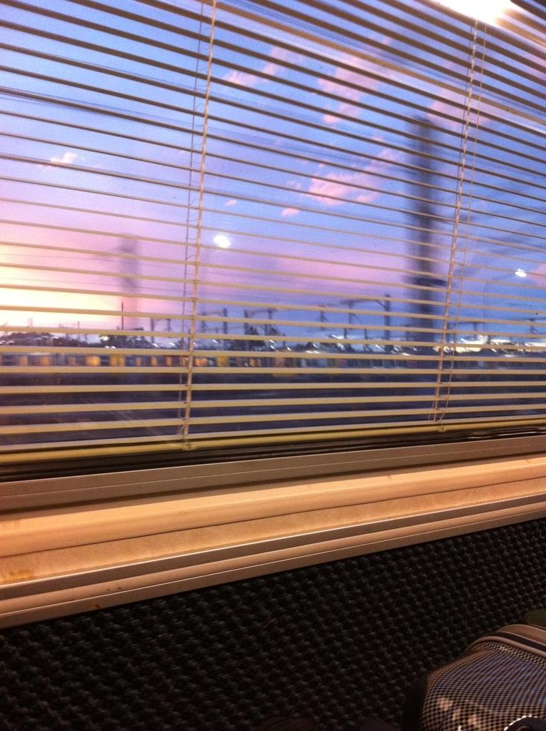 オーストラリアの列車内からの風景