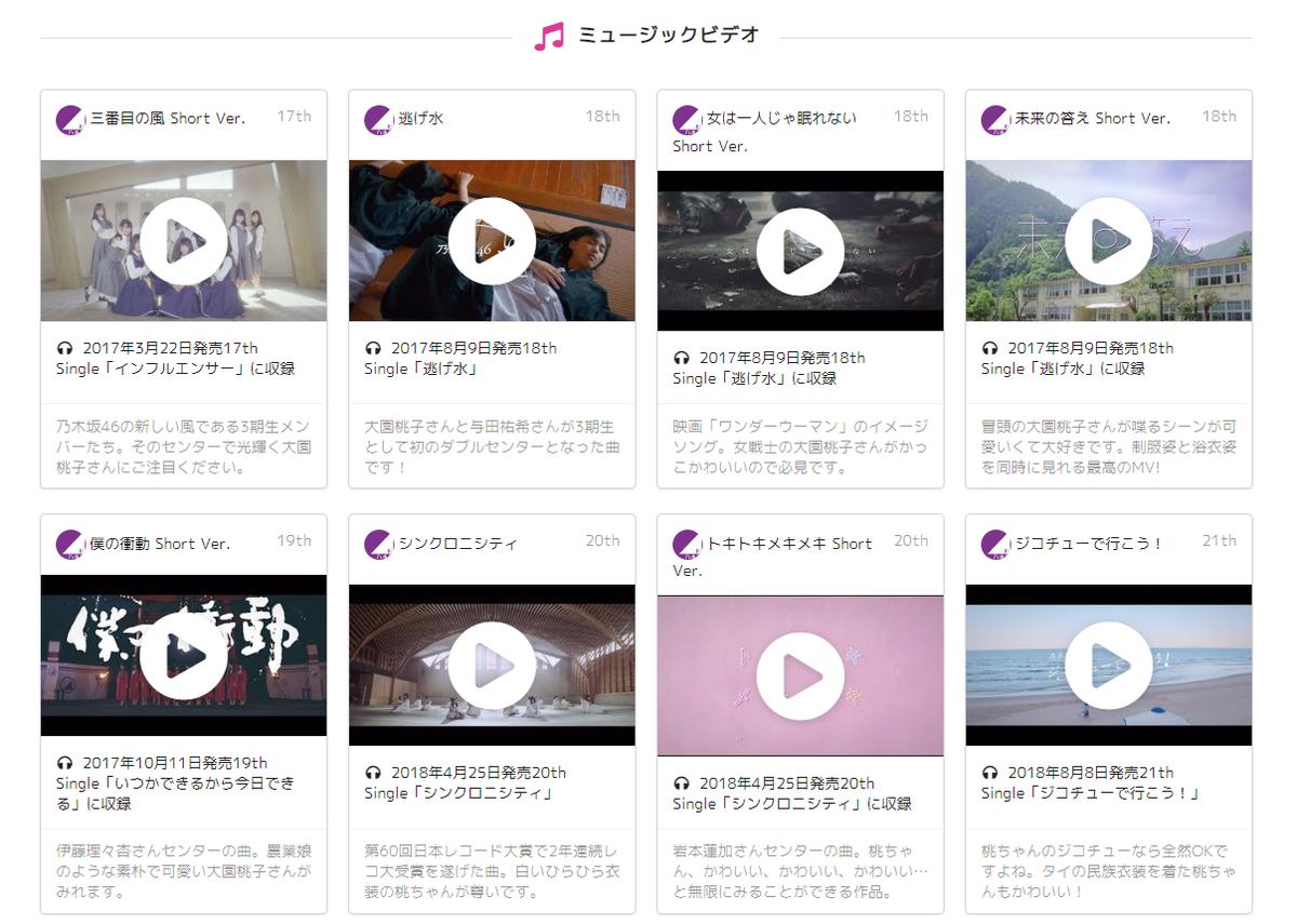 乃木坂46ミュージックビデオ