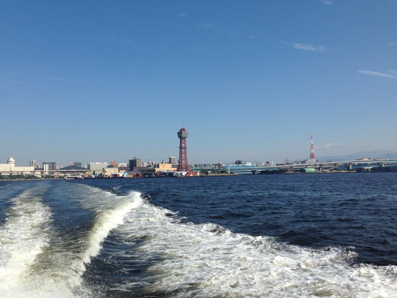 フェリーから福岡ポートタワー