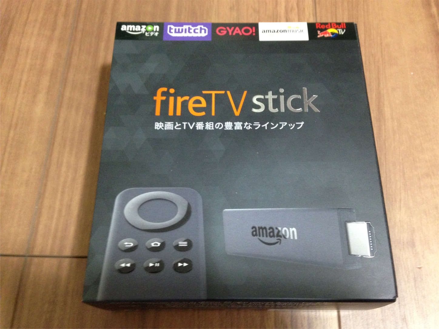 Amazon fire TV stickパッケージ