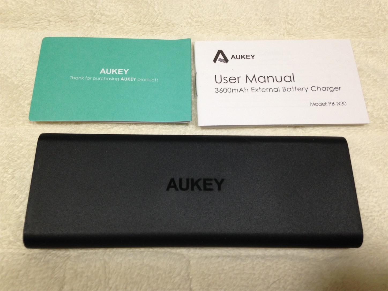 Aukey モバイルバッテリー 3600mAh アップ