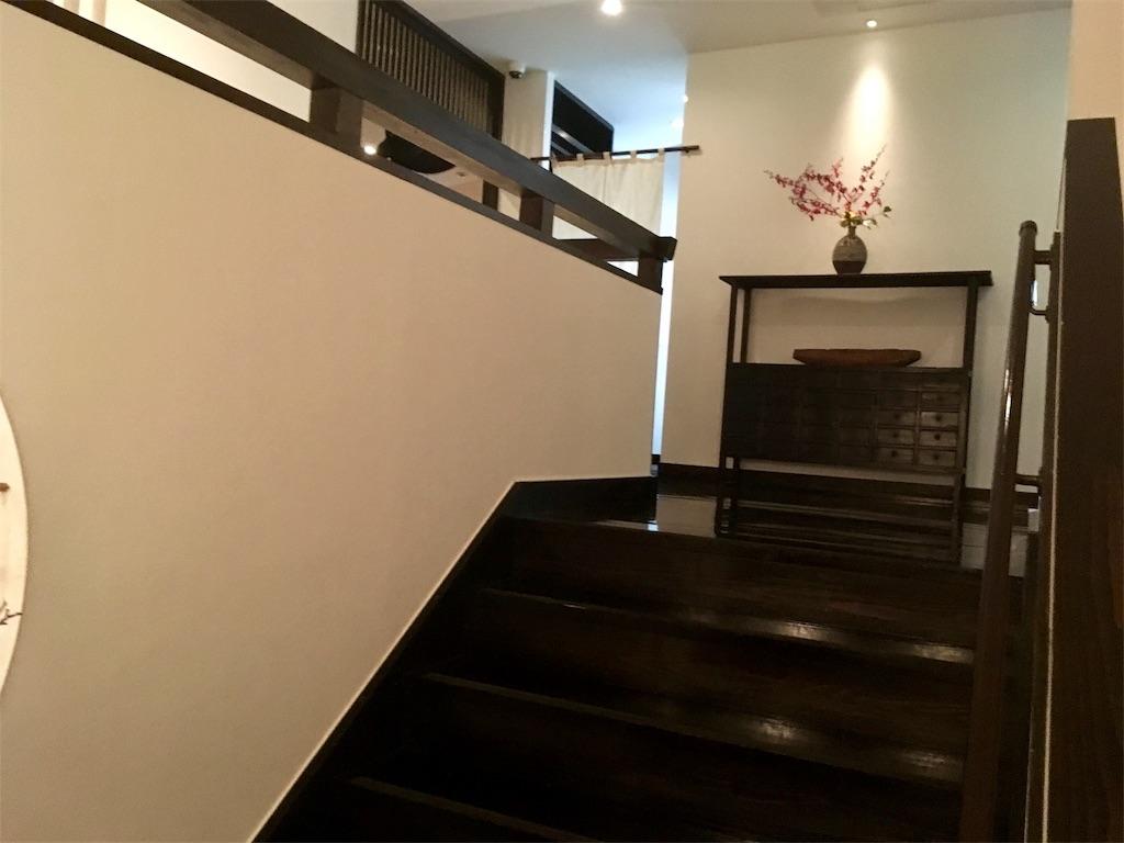 やま中 本店 内観 二階への階段