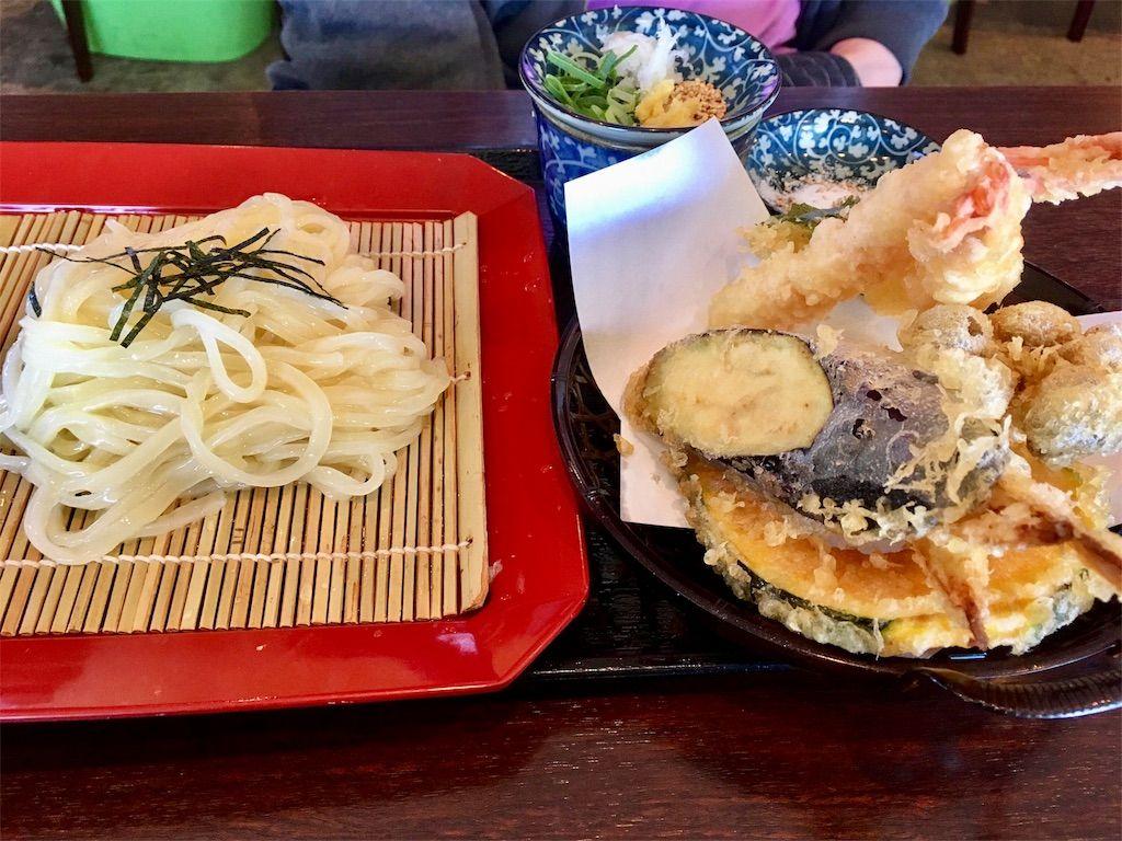 ざるうどん 天ぷら盛り セット
