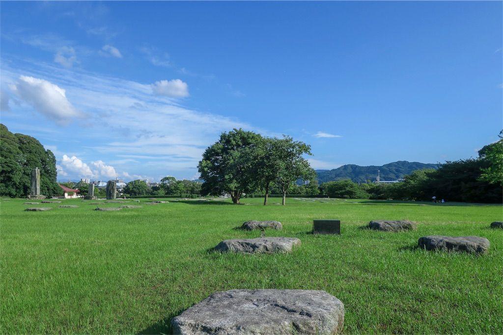 太宰府政庁跡 石 木々