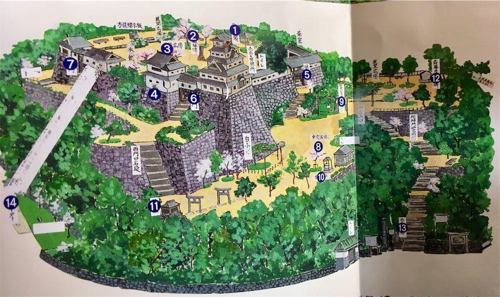 唐津城 舞鶴公園 案内図