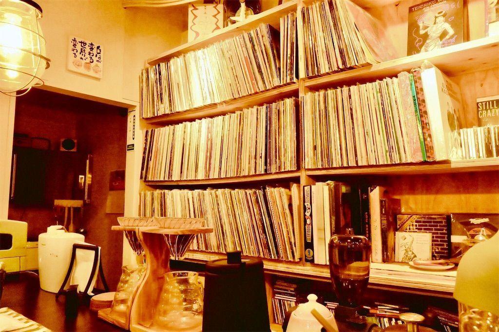 夢のちまた レコード棚