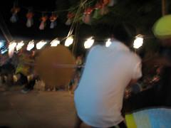 保育園の夏祭り:特大びゅんびゅんごま