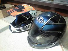 青いモノ:ヘルメット