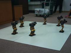 工作教室でロボットショー