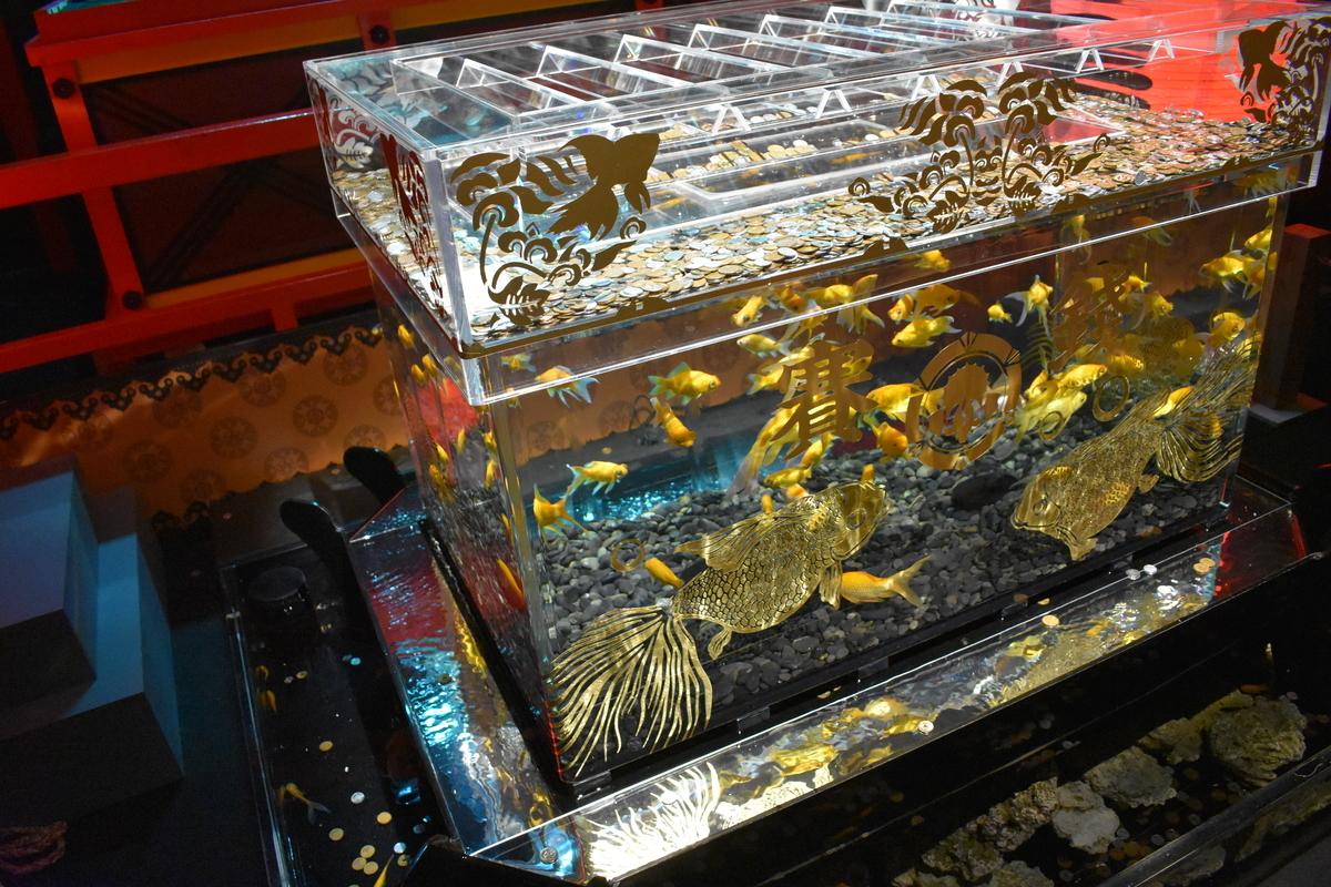 アートアクアリウム城「祈願金魚箱」