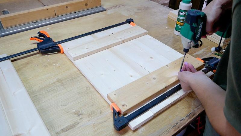 ガーデンシンクの扉を作る