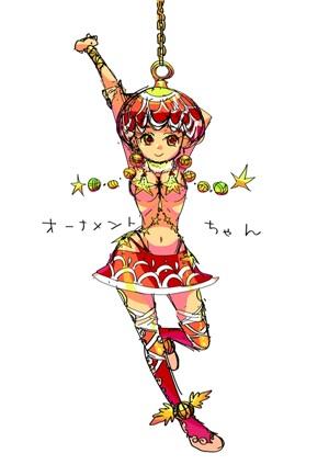 阿佐ヶ谷みなみさんオーナメントのオリジナルキャラクターデザインのイラスト