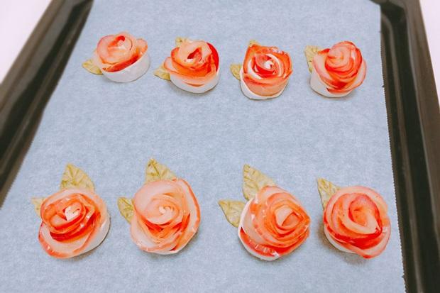 薔薇のアップルパイ焼く前