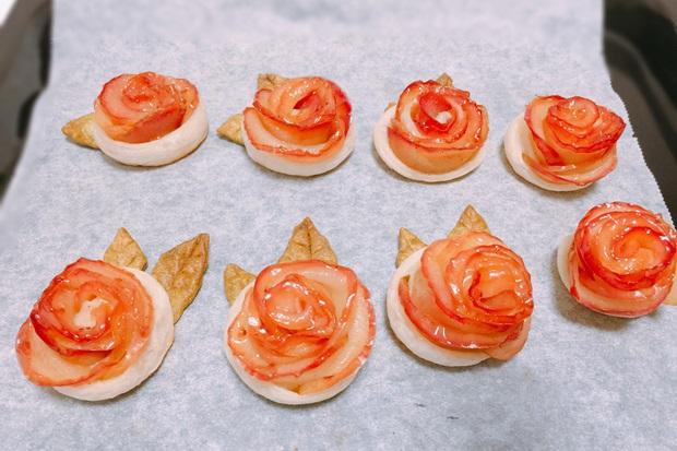 薔薇のアップルパイ完成
