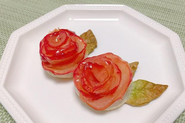 の薔薇のアップルパイ完成