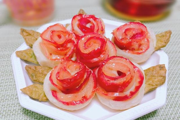 の薔薇のアップルパイ花束