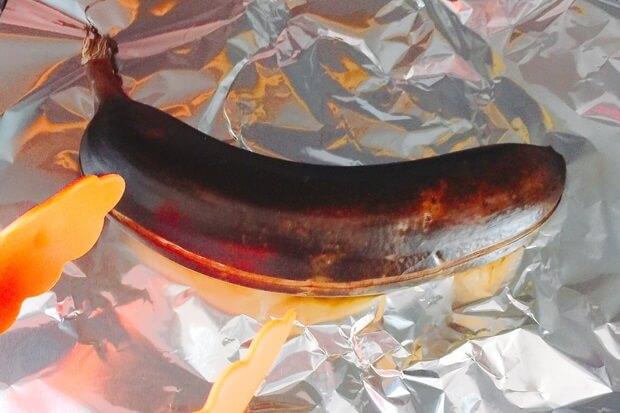 皮ごと焼きバナナのトースター焼き時間