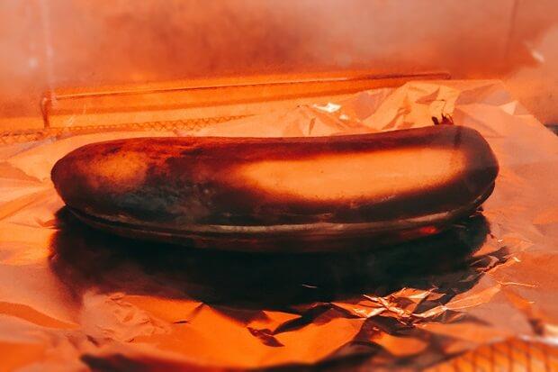皮ごと焼きバナナのトースターレシピ