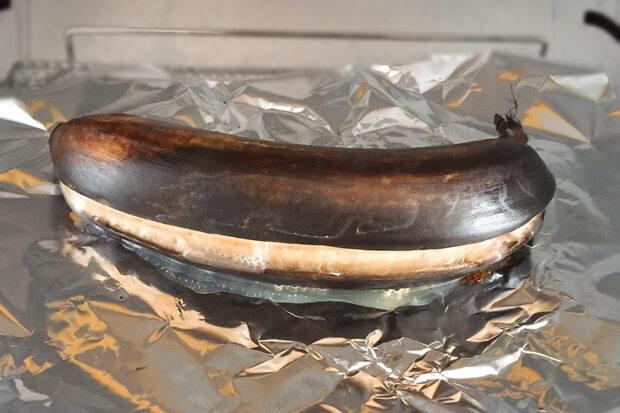 皮ごと焼きバナナのトースター焼き方