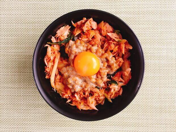 ツナキムチ納豆丼の作り方