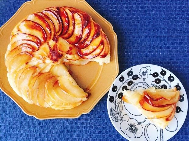 フライパンりんごケーキのホットケーキミックスレシピ