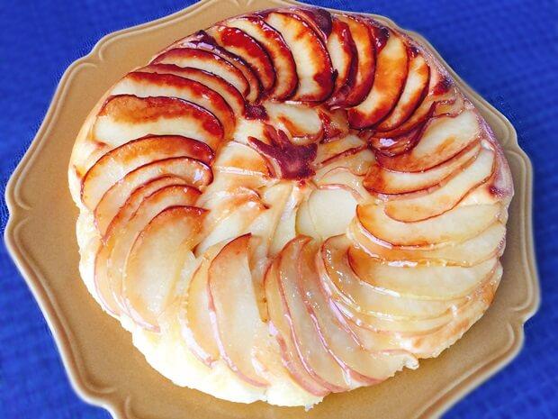 フライパンりんごケーキレシピ完成