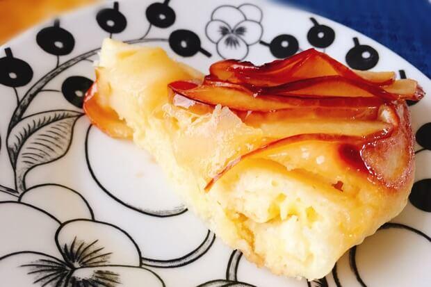 フライパンりんごケーキレシピ1ピース