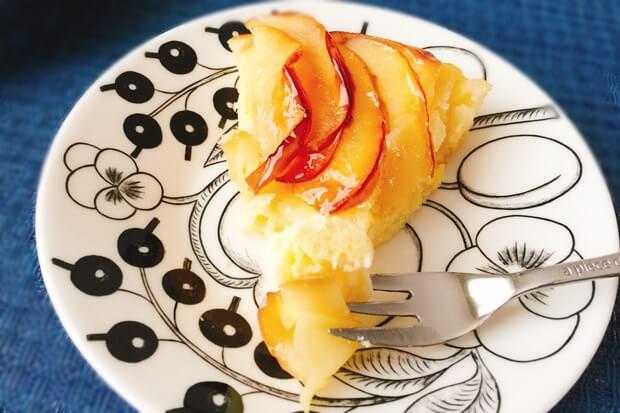 フライパンりんごケーキレシピ試食