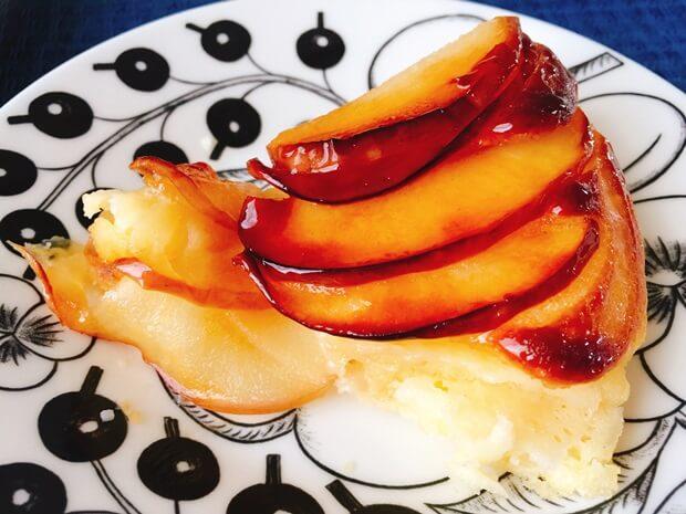フライパンりんごケーキレシピ焦げた方試食