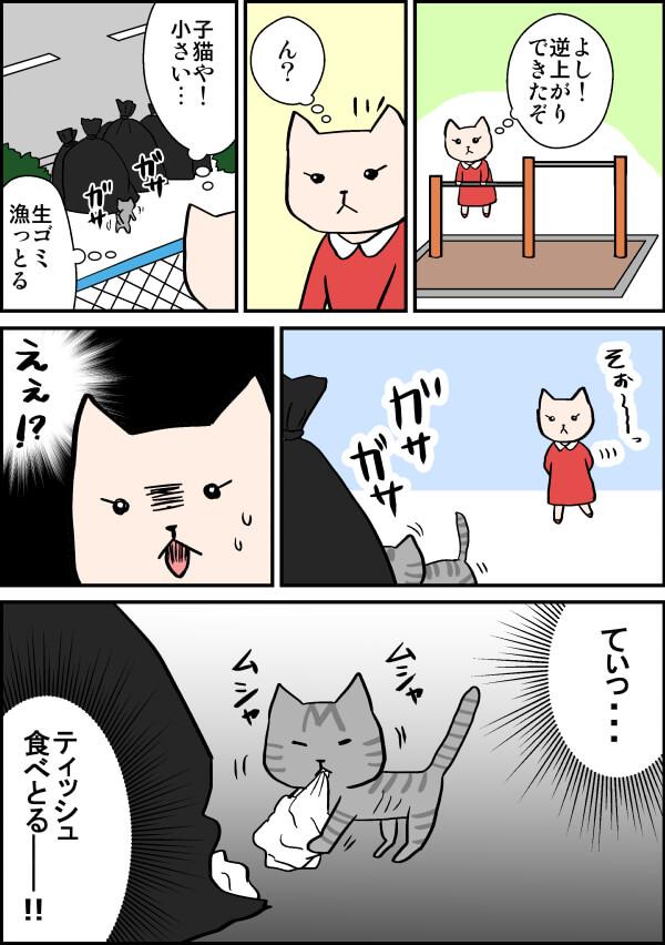 野良の子猫を保護する漫画
