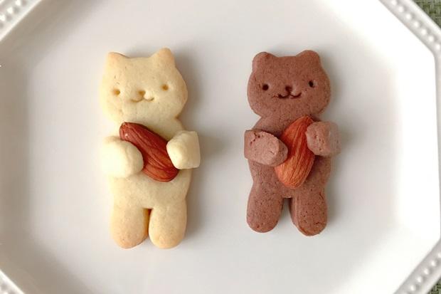 抱っこねこクッキーと抱っこくまクッキーの画像