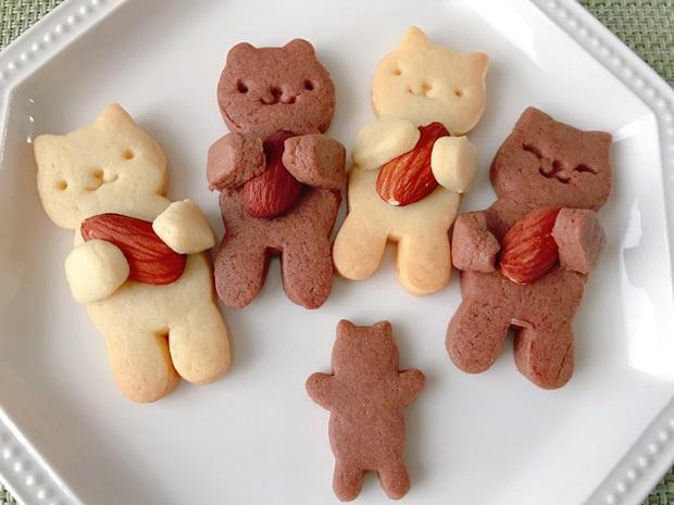 抱っこネコクッキーと抱っこクマクッキー