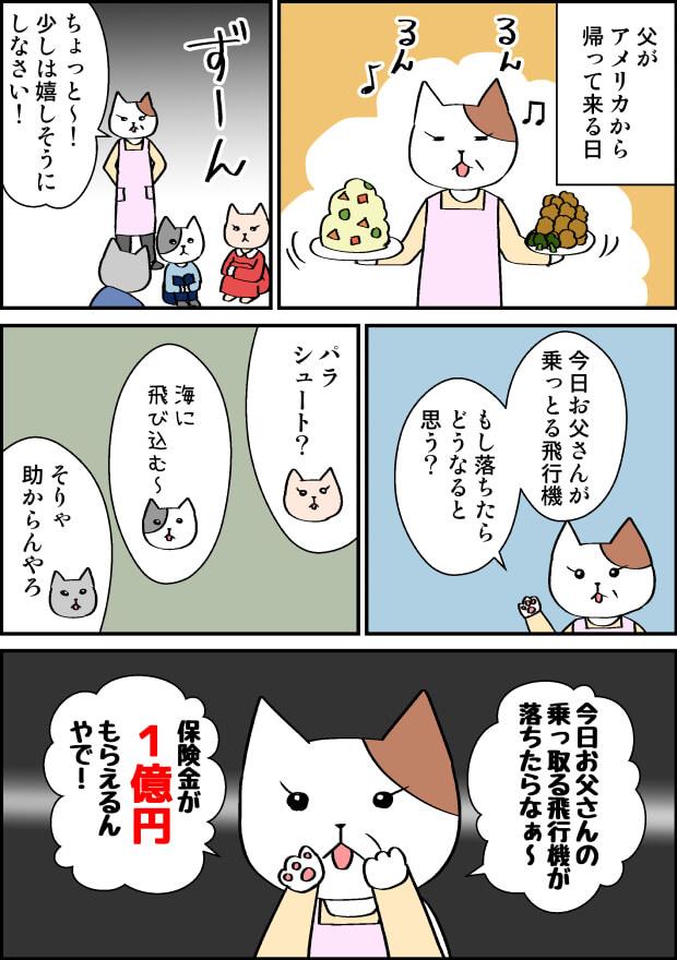 保険金が1億円もらえる漫画