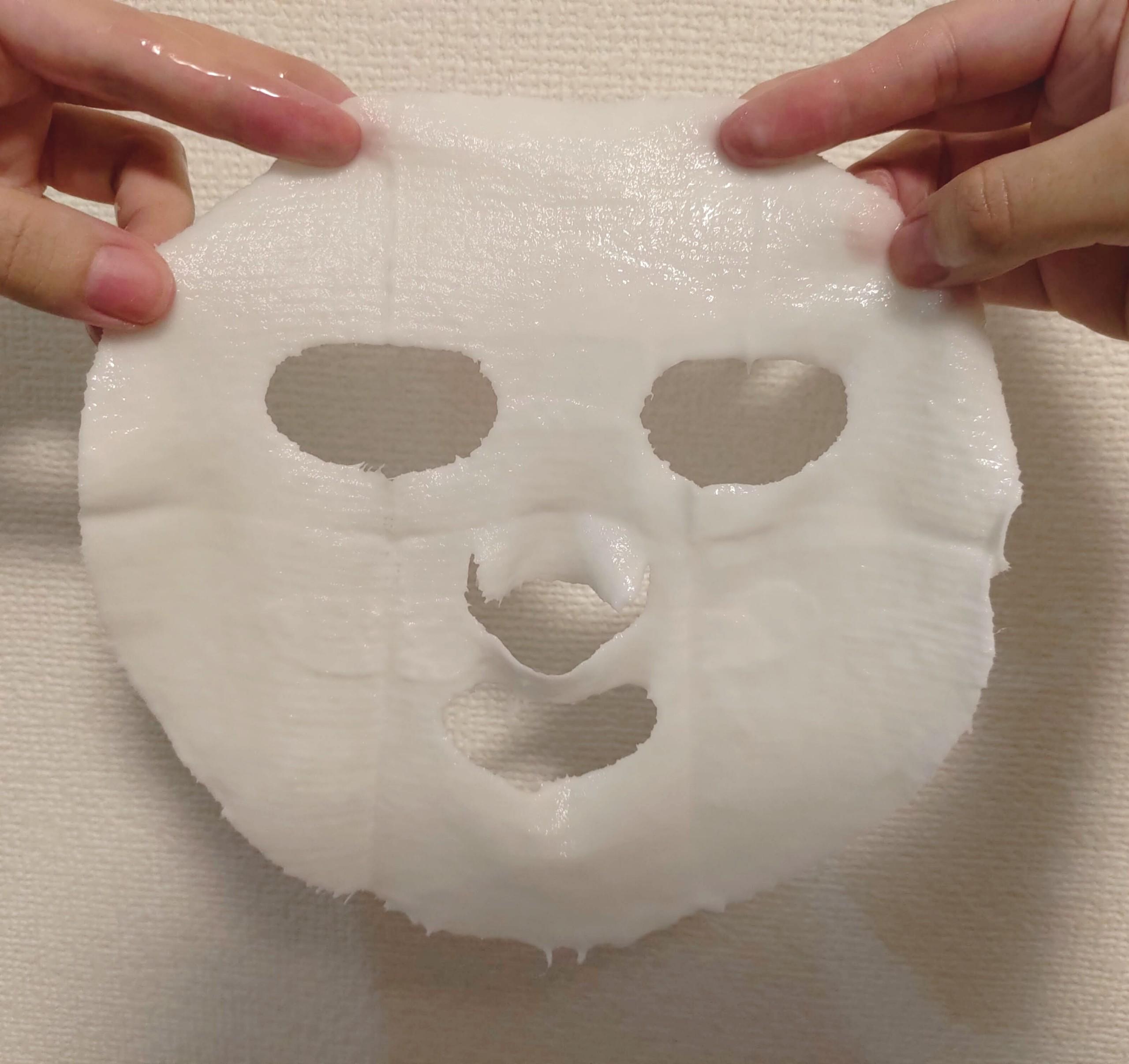 モイスチャライジングニットマスク ニット状のシート