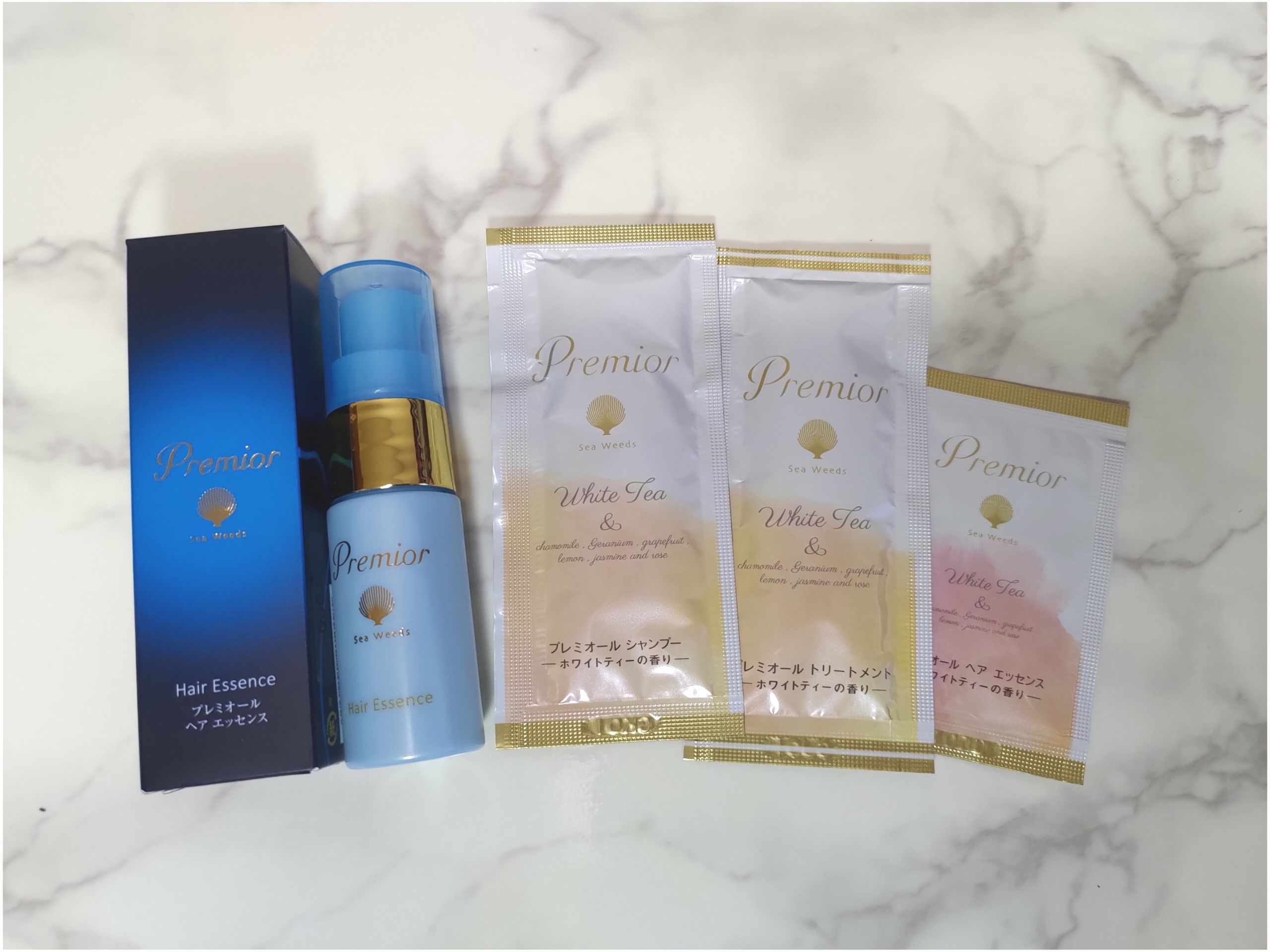 La Sana Premior ラサーナ プレミオール ヘア エッセンスとホワイトティーの香りのシャンプーセット