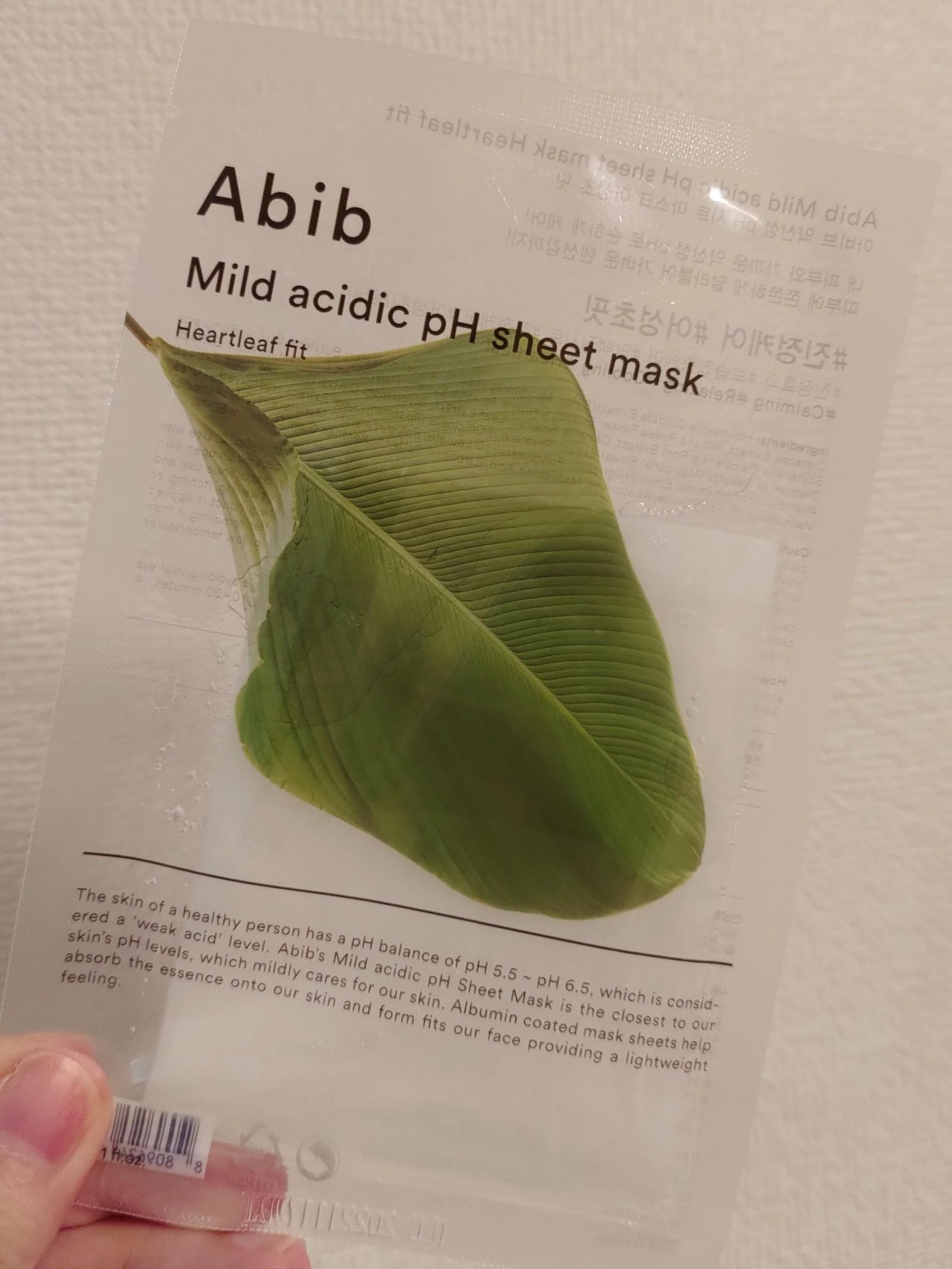 Abib 弱酸性pHシートマスク ハートリーフフィット(ドクダミ)