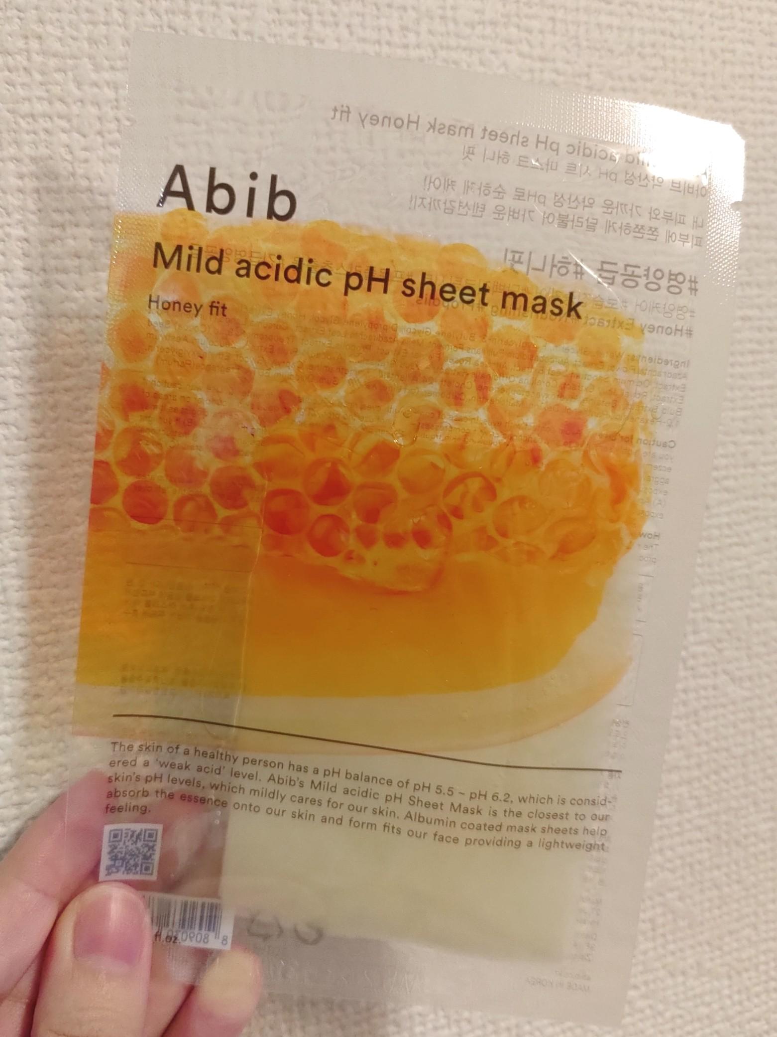 Abib 弱酸性pHシートマスク ハニーフィット