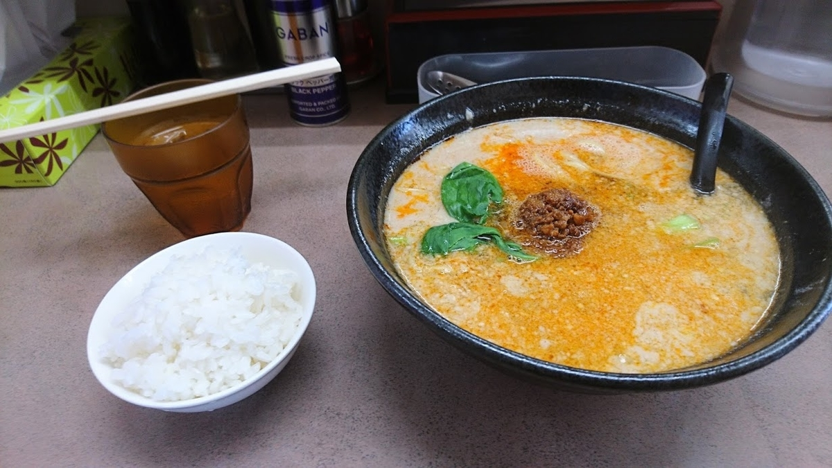 担々麺@とんとん森本店