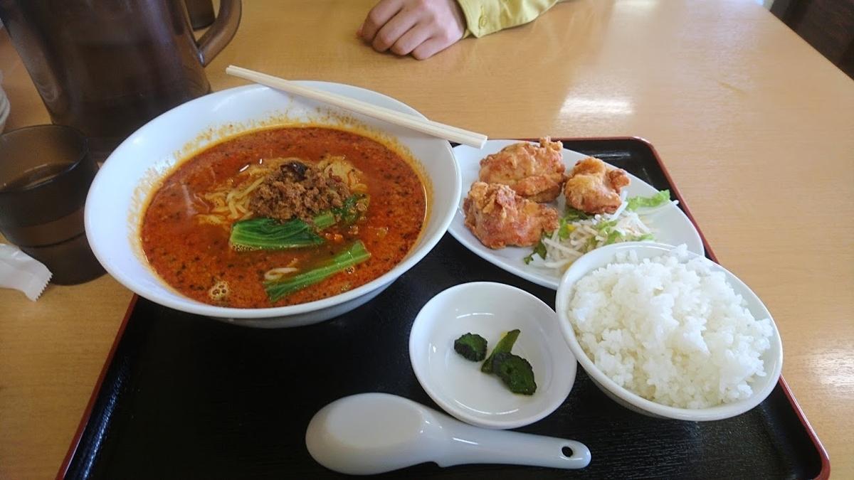 担々麺@台湾料理四季紅かほく店
