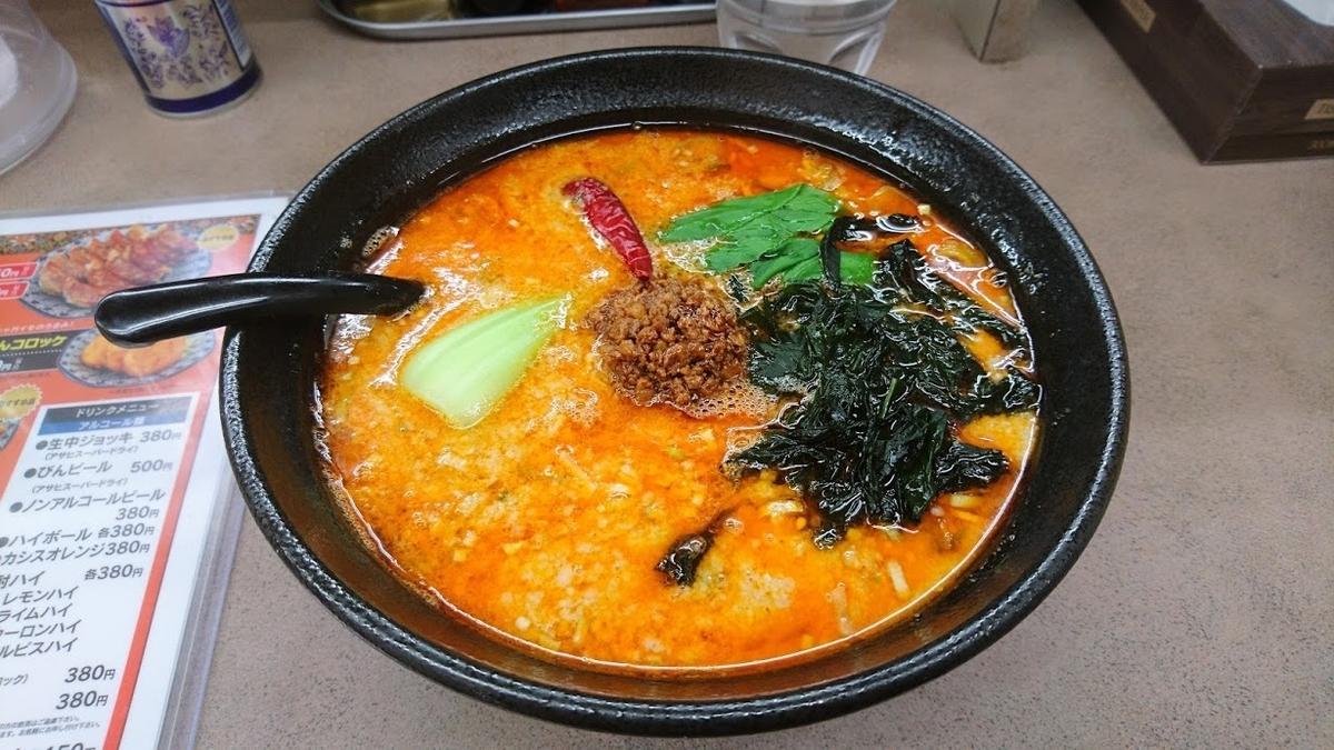 担々麺8度 生わかめトッピング@ラーメンとんとん森本店