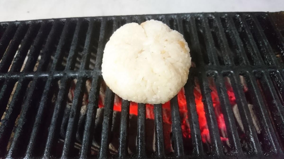 天かすと麺つゆの焼おにぎり
