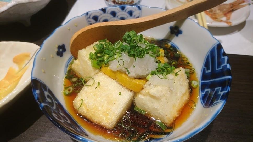 生麩と豆腐の揚げ出し @ 旬菜料理 TAKU 2021年4月2日